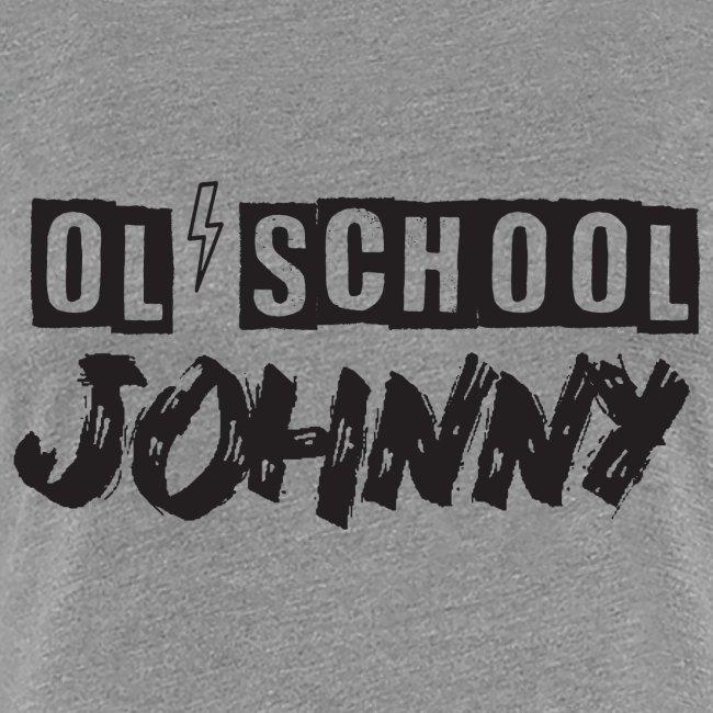 Ol' School Johnny Logo - Black Text
