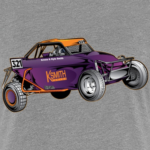 Purple Race Buggy - Women's Premium T-Shirt