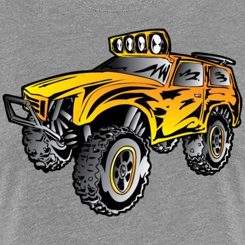 4x4 rock crawler rc race truck, orange - Women's Premium T-Shirt
