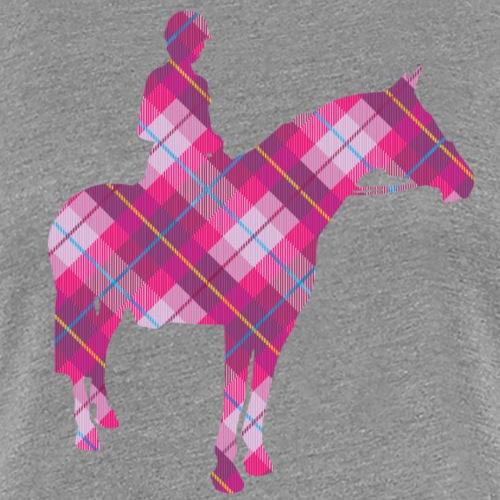 Tartan Horse & Rider - Women's Premium T-Shirt