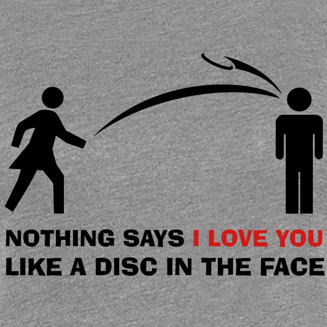 I Love You Disc in Face