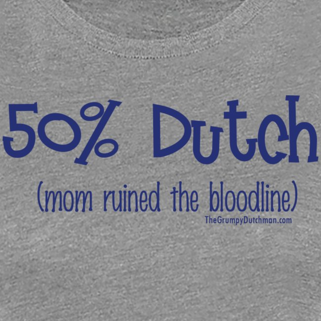 Bloodline Mom blue lettering