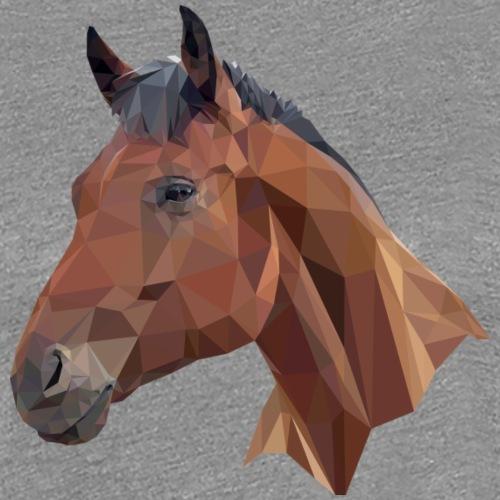 Bay Horse Head Graphic - Women's Premium T-Shirt