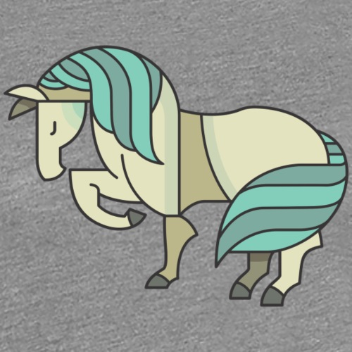 Blue Pony Graphic - Women's Premium T-Shirt