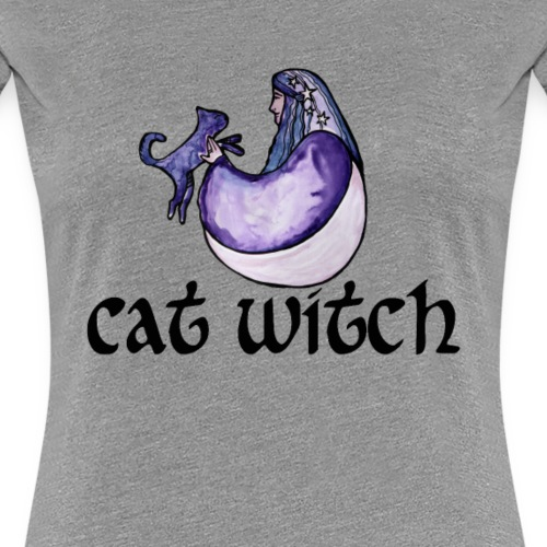 Cat Witch - Women's Premium T-Shirt