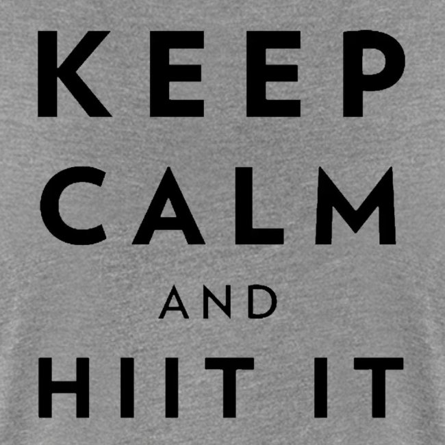 black logo, keep calm and hiit it black