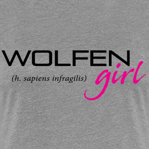 Front/Back: Wolfen Girl on Light - Adapt or Die - Women's Premium T-Shirt