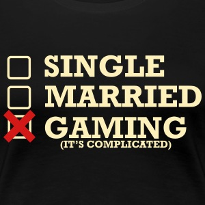 Single - Married - Gaming - Women's Premium T-Shirt