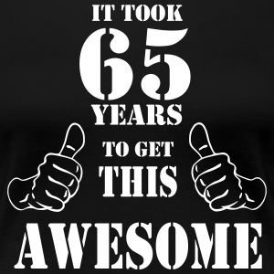 65th Birthday Get Awesome T Shirt Made in 1952 - Women's Premium T-Shirt