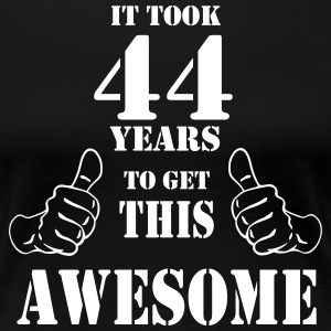 44th Birthday Get Awesome T Shirt Made in 1973 - Women's Premium T-Shirt