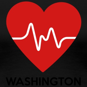 Heart Washington - Women's Premium T-Shirt