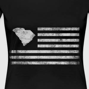 South Carolina State United States Flag Vintage US - Women's Premium T-Shirt