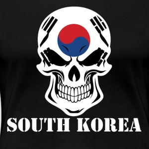 Korean Flag Skull South Korea - Women's Premium T-Shirt
