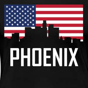 Phoenix Arizona Skyline American Flag - Women's Premium T-Shirt