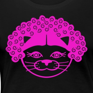 Kitty Afro - Women's Premium T-Shirt