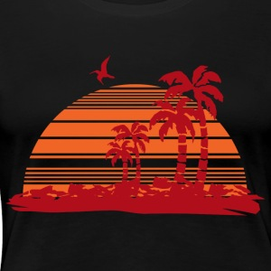 Sundown and Palms - Women's Premium T-Shirt