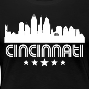 Retro Cincinnati Skyline - Women's Premium T-Shirt