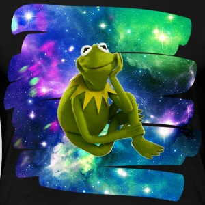 Kermit the frog in the never ending void. - Women's Premium T-Shirt