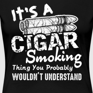 Cigar Lovers Tee Shirt - Women's Premium T-Shirt