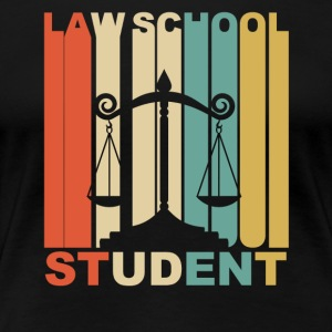 Vintage Law School Student Graphic - Women's Premium T-Shirt