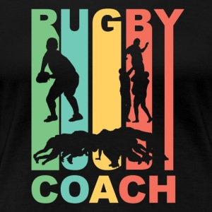Vintage Rugby Coach Graphic - Women's Premium T-Shirt