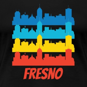 Retro Fresno CA Skyline Pop Art - Women's Premium T-Shirt