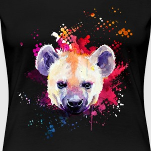 Hyena Watercolor Tee Shirt - Women's Premium T-Shirt