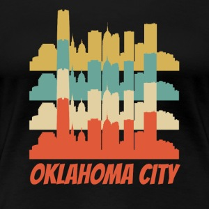 Retro Oklahoma City OK Skyline Pop Art - Women's Premium T-Shirt