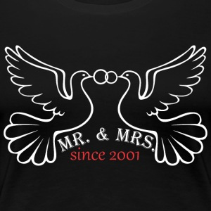 Mr And Mrs Since 2001 Married Marriage Engagement - Women's Premium T-Shirt