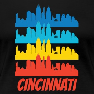 Retro Cincinnati OH Skyline Pop Art - Women's Premium T-Shirt