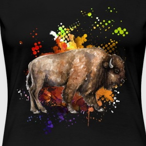 Love Yak Watercolor Shirt - Women's Premium T-Shirt