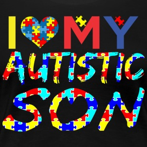 I Love My Autistic Son Autism Awareness - Women's Premium T-Shirt