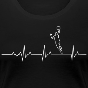 Basketball Heartbeat T-shirt and Hoodie - Women's Premium T-Shirt