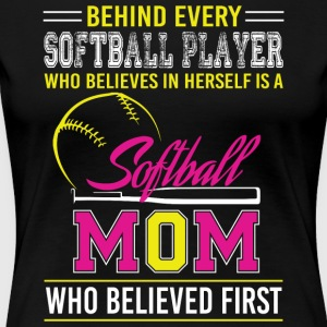 Softball Mom T Shirt - Women's Premium T-Shirt