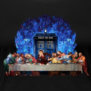 Time traveller lost in the last supper - Women's Premium T-Shirt