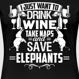 I Just Want To Save Elephants Tshirt - Women's Premium T-Shirt