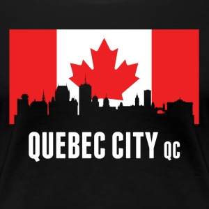 Canadian Flag Quebec Skyline - Women's Premium T-Shirt