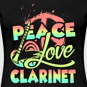 PEACE LOVE CLARINET SHIRT - Women's Premium T-Shirt