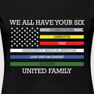 We all have your six united family - Women's Premium T-Shirt
