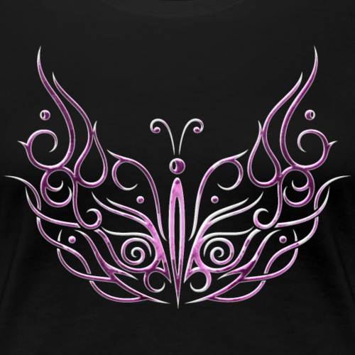Big butterfly in pink and white. Summer. - Women's Premium T-Shirt