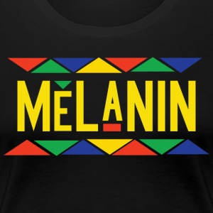 Melanin - Tribal Design (Yellow Letters) - Women's Premium T-Shirt