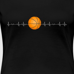 Basketball lover heartbeat - Women's Premium T-Shirt