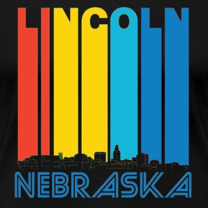 Retro Lincoln Nebraska Skyline - Women's Premium T-Shirt