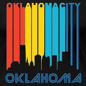 Retro Oklahoma City Skyline - Women's Premium T-Shirt
