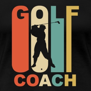 Vintage Golf Coach Graphic - Women's Premium T-Shirt