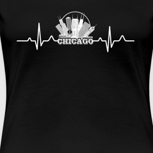 Chicago Heartbeat Shirt - Women's Premium T-Shirt
