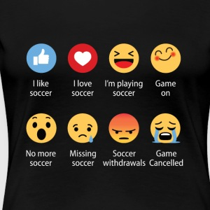 Soccer emojication funny - Women's Premium T-Shirt