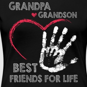 Grandpa and grandson best friends for life - Women's Premium T-Shirt