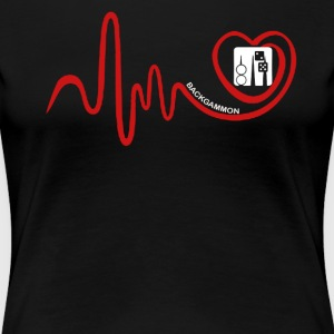Backgammon Heartbeat Shirt - Women's Premium T-Shirt