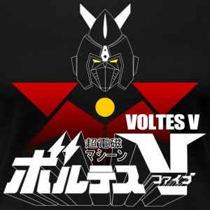 JAPAN CLASSIC RETRO ANIME ROBOT VOLTES V FIVE - Women's Premium T-Shirt
